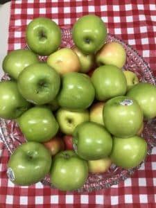 Et plus de pommes!