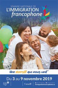 Semaine nationale de l'immigration francophone.